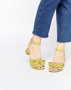 Image 1 of ASOS FUN FUN Bow Two Part Sandals