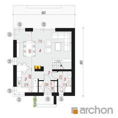 Projekt domu Dom na wzgórzu (N) - ARCHON+ Traditional House, Floor Plans, Plants, Home, Ad Home, Plant, Homes, Haus, Floor Plan Drawing