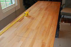Sealing butcher block countertops