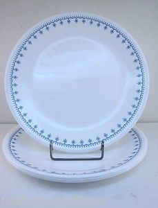 Corning Ware Corelle Snowflake Blue 4 Dinner Plates Set 1970 Vintage Livingware | eBay  sc 1 st  Pinterest & Noritake Selene at Replacements Ltd | snowflake | Pinterest ...