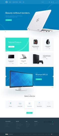 Dell homepage redesign