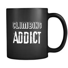 Climbing Climbing Addict 11oz Black Mug