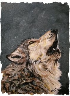 easy acrylic painting on canvas wolves | Tags: wolf wolves bj redmond paintings , wolf wolves bj redmond canvas ...