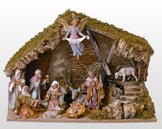 11 Piece Fontanini Nativity Set - Figurines w/ Italian Stable Christmas Nativity Set, Christmas Figurines, Christmas Holidays, Christmas Crafts, Christmas Decorations, Christmas Ornaments, Nativity Sets, Holiday Decorating, Merry Christmas