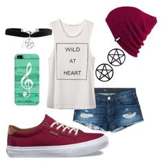 """""""karis"""" by ayelencruzaguillon ❤ liked on Polyvore featuring 3x1, Vans, Casetify, Boohoo and Marina Fini"""
