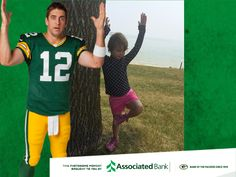 #Goodfit  Aaron Rodgers - Most Valuable Photobomber - Brought to you By Associated Bank