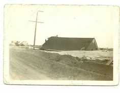 Just a roof left, along the road to Thompson's Beach, Maurice River Township (Cumberland County) NJ, after the terrible storm of 1950.  Photo from the collection of Kathryn Peterson. <3