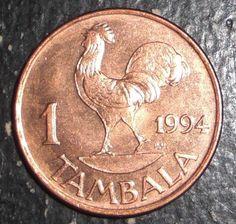 Malawi 1 Tambala Rooster Bird Animal Coin | eBay