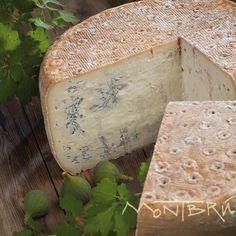 Blau de Cabra, a blue goat's milk cheese from Catalunya, Spain.