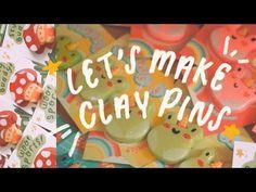 STUDIO VLOG 03   How I Make Clay Pins! (Handmade Pin Tutorial ☻) - YouTube Air Dry Clay, Cold Porcelain, Clay Crafts, Polymer Clay, Birthday, Kids, Handmade, Studio, Youtube