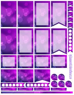 purple bubbles  Free planner printable stickers, sized for the large happy planner (print at 85% for regular happy planner). Stickers are free, but if you like them I ask you donate to my Alzheimer's Memory Walk. Stickers are through my facebook group:  https://www.facebook.com/groups/plannerstickersforacure/