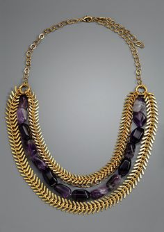 A.V. MAX Triple Row Stone and Chain Necklace make this