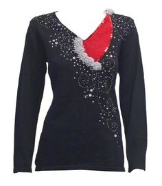 Glitzy Hat- Elegant and Fun Christmas Sweater with Embellished Santa hat and sequin beaded swirls in Black, Medium Berek,http://www.amazon.com/dp/B00AG1DK7S/ref=cm_sw_r_pi_dp_-f63qb1AM2TF5P87