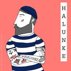 Halunke by Seemannsgarn || http://www.seemannsgarn-handmade.de/2015/11/schone-worter-illustrationen-halunke.html