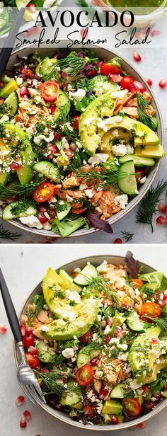 Flavorful smoked salmon, silky avocado, and a bright Dijon honey vinaigrette bring the most incredible flavors and colors to this company-worthy smoked salmon salad! Smoked Salmon Salad, Salmon Salad Recipes, Smoked Salmon Recipes, Salmon Avocado, Cooking Recipes, Healthy Recipes, Skinny Recipes, Lunch Recipes, Seafood Recipes