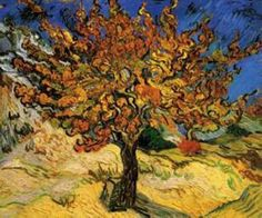 The Mulberry Tree  by Vincent Van Gogh prints for sale. The Mulberry Tree Classic canvas, acrylic, custom frame prints. Orientation: horizontal . Color tones: