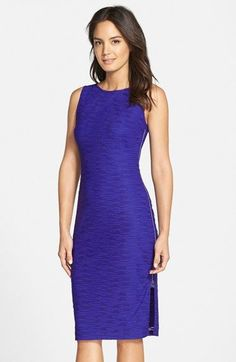 Marc New York by Andrew Marc Textured Side Zip Sheath Dress available at #Nordstrom