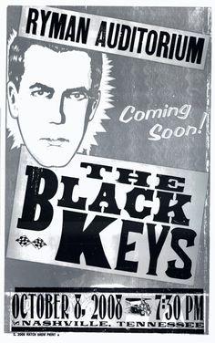 The Black Keys, 3-color letterpress show poster, 2008