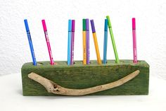 Stiftehalter  Altholz Stiftbox Aufbewahrung Holz von SchlueterKunstundDesign - Wohnzubehör, Unikate, Treibholzobjekte, Modeschmuck aus Treibholz auf DaWanda.com