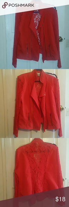 1X lace jacket Wore once for Valentine's Day Jackets & Coats