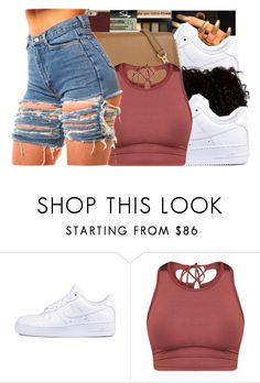 """""""Hey, how you doin?"""" by royaltyvoka ❤ liked on Polyvore featuring NIKE"""