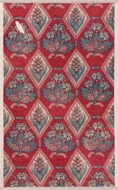 Printed cotton (late 18th century). France.  Heaveninawildflower