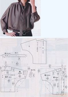 Sewing Shirt Pattern Free Sleeve Ideas For 2019 – Schnittmuster Sewing Patterns Free, Clothing Patterns, Dress Patterns, Pattern Sewing, Coat Patterns, Pattern Drafting, Sewing Blouses, Sewing Shirts, Blouse Pattern Free