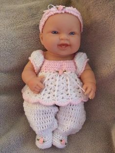 Crochet pattern for berenguer 5 inch baby doll baby for 5 inch baby dolls for crafts