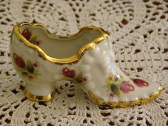 Vintage Fenton like Shoe/Boot Rose Flowers adornment by parkie2, $19.95