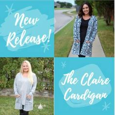 #pdfsewingpattern NEW Release! The Claire Cardigan is your classic comfort!  Long line open front cardigan patch pockets and side slit. Letter A4 and A0 printing! Use code:CLAIRECARDIGAN at checkout for 25% OFF your total purchase! #cardigans #sweaterweather #seaminglysmittenpatterns #clairecardigan #diydontbuy #diyfashionista #fallsewing #knitwear #sew