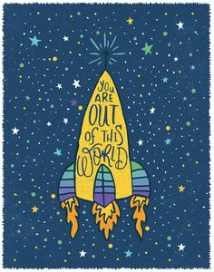 YOU ARE OUT OF THIS WORLD Framed Art Print by Matthew Taylor Wilson   Society6