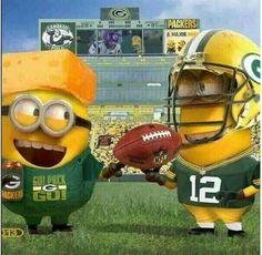 Aaron Rodgers and Cheesehead Minions - NFL Green Bay Packers Packers Baby, Go Packers, Green Bay Packers Fans, Packers Football, Best Football Team, Nfl Green Bay, Football Baby, Greenbay Packers, Football Season