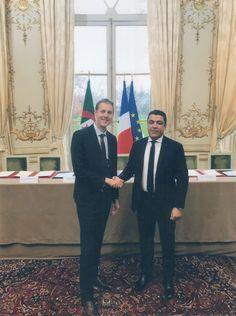 Lyes Boudiaf meets Emmanuel Macron, President of France & December 2017.