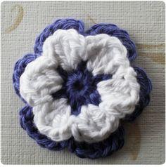 Syslemoster: Hæklede blomster, opskrift