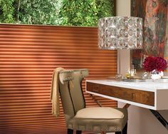 Give a home energy smart style with Duette® Architella® honeycomb shades. Stylish window treatments designed to help lower energy bills. ♦ Hunter Douglas window treatments #bedroom