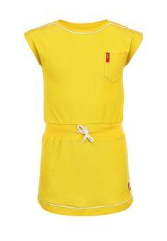 Платье Reima для девочек. Цвет: желтый. Сезон: Весна-лето 2014. С бесплатной доставкой и примеркой на Lamoda. http://j.mp/1pjPFLI