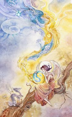 Temperence, Shadowscapes Tarot:  Harmony and equilibrium, balancing of opposites, creating synthesis, healing.