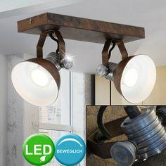 2er Set LED Chrom Wand Lampen Vogel Design Wohn Zimmer Flexo Strahler Leuchten