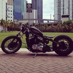 yet another dope VLX bob Honda Shadow Bobber, Honda Bobber, Bobber Bikes, Bobber Motorcycle, Motorcycle Style, Vintage Motorcycles, Custom Motorcycles, Custom Bikes, Honda Steed