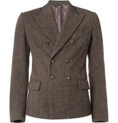 Dolce & Gabbana: An image siilar to what I want to design; oxblood velvet double breasted blazer.