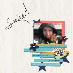 """Smile"" - Digital Scrapbook Page"