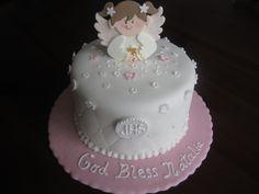 "6"" Angelic First Communion Fondant Cake"