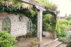 Maybe a good idea to add some posts and a trellis to the limestone house. ?