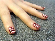 Gorgeous Nail Art Design - Starburst Manicure