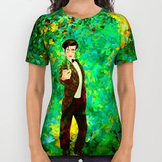 11th Doctor abstract art All Over Print Shirt @pointsalestore @society6thresecond #alloverprint #tshirt #clothing #Painting #Digital #Oil #Acrylic #Streetart #Abstract #Tardis #Doctorwho #Doctor #who #Mattsmith #11thdoctor #Scifi #Vangogh #Starrynight #Dalek #Cyberman #Geek #Whovian #Green #Fullcolor #Fanart