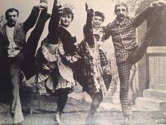 La Goulue, Grille d'Egout, Valentin Le-Desosse and a friend doing the Can-Can at the Moulin Cabaret, Moulin Rouge Paris, Le Moulin, Vintage Photographs, Vintage Photos, Saloon Girls, Henri De Toulouse Lautrec, Belle Epoque, Aerial Dance