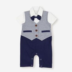 Baby rompers sales at a wholesale price on NewChic. Baby onesies, two Piece clothes extremely fit for infants, come and buy now. Baby Boy Outfits, Kids Outfits, Types Of Collars, Clothes For Sale, Outfit Sets, Sleeve Styles, Gentleman, Short Sleeves, Rompers