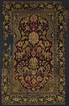 Prayer Rug  Object Name:Carpet Date:late 16th century Geography:Attributed to Egypt or Turkey Culture:Islamic Medium:Silk, wool Accession Number:1974.149.1