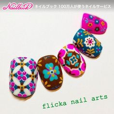#Nailbook #秋 #ハンド #フラワー #ジェルネイル #flicka_nail #ネイルブック