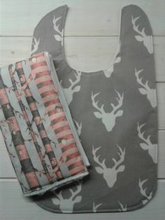 Check out this item in my Etsy shop https://www.etsy.com/listing/473574322/girl-bib-and-burp-cloth-set-deer-and